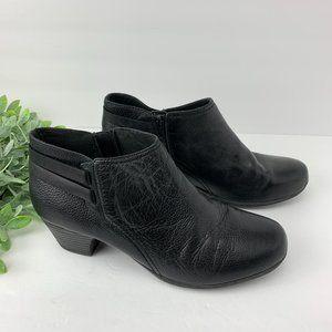 Clarks Valerie 2 Ashly Ankle Bootie Heel Black 10M